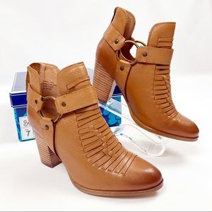Seychelles NIB Impossible Bootie 7 Tan Leather